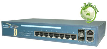 PSES-2410C & PSES-2410CF 8-Port L2 Plus Managed Fast Ethernet PoE Switch + 2 TP/