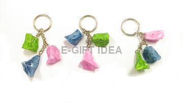 Plastic Marble Ice Key Chain