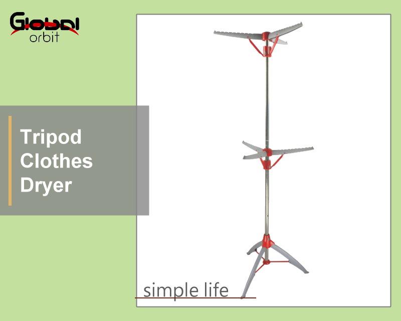Tripod Clothes Dryer Folding Rack 2 Tier