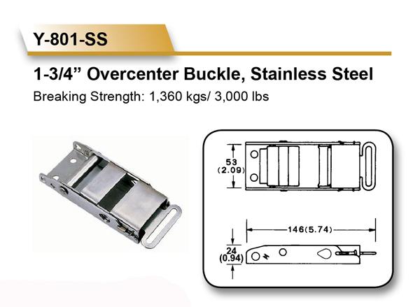 [EZ LOAD] Quality 1360 KGS 304 Stainless Steel Overcenter Buckles