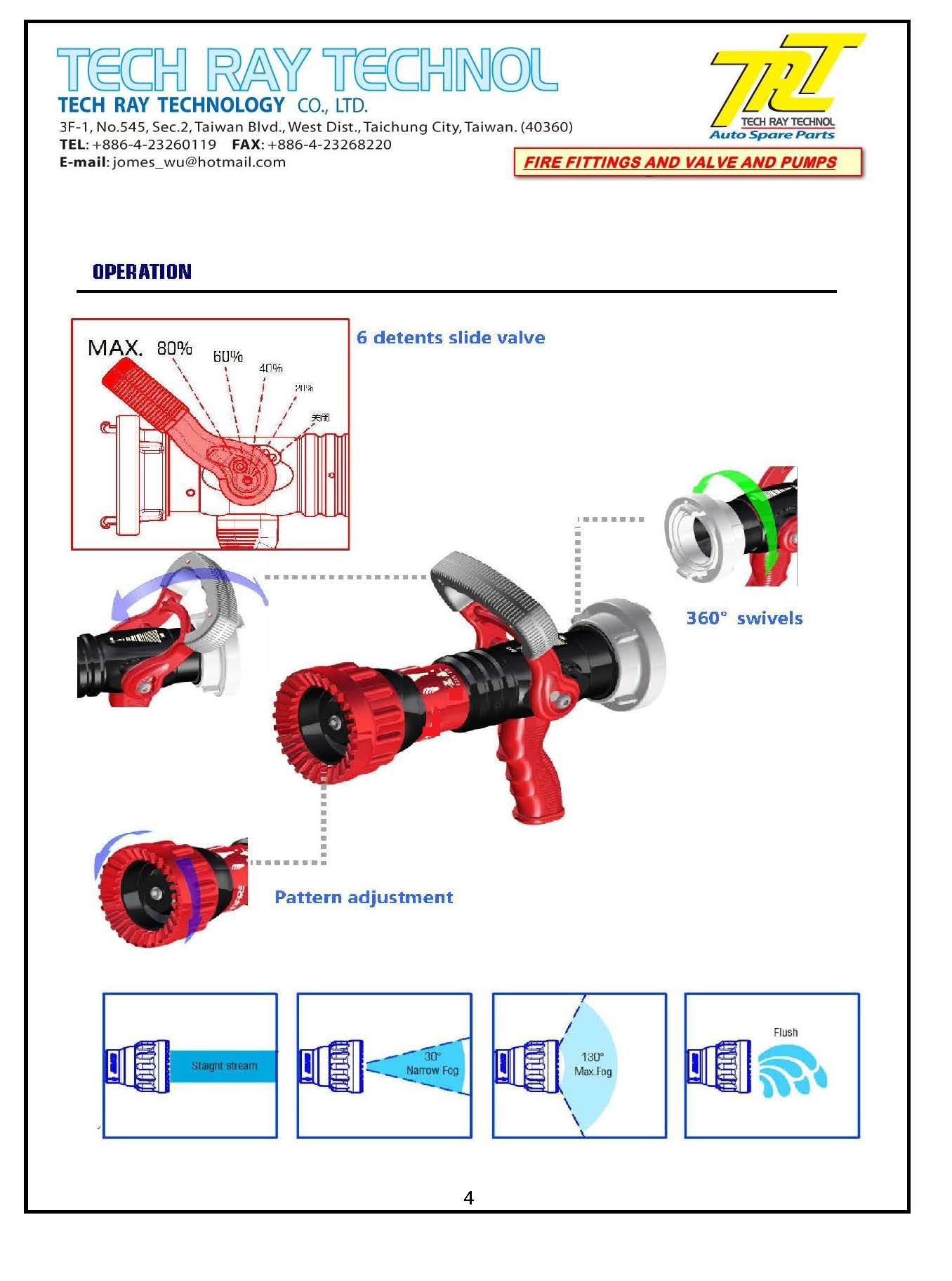 Fire    Nozzle Firefighting Supplies   CHERNG LONG PLASTIC MFG CO  LTD