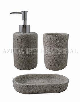 Cylinder Sandstone-II Poly Bathroom Set