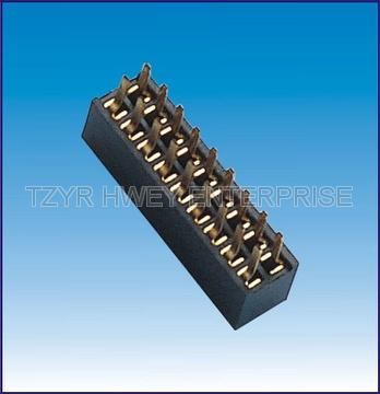 1.27mm pitch female header connector
