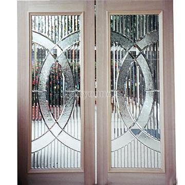 Taiwan french door entrance entry door leaded glass for 96 inch exterior french doors
