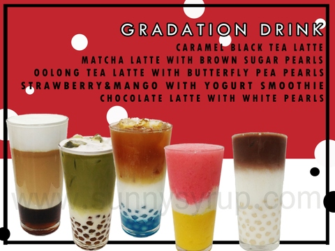 Sunnysyrup Bubble Tea Layer Drinks