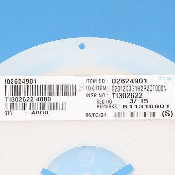 Taiwan C2012C0G1H2R2CT 0805 2.2pF 50V C0G Multilayer SMD ...