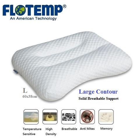 Side Sleeping Pillow by FloTemp: Exclusive USA foam