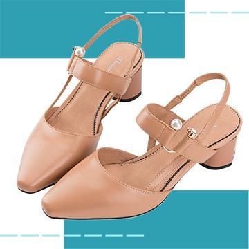 【Robinlo Studio】Delia Almond_Block heels, Ankle Strap Shoes