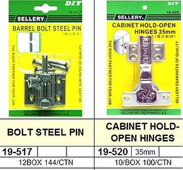 Sellery 19 517 Bolt Steel Pin 19 520 Cabinet Hold Open
