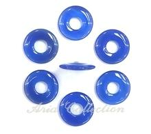 Blue Agate Round Donut Shape