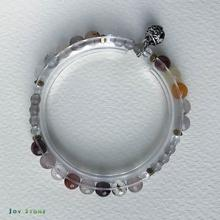 Wealth Bracelet Rutilated Quartz with Silver Bell Charm
