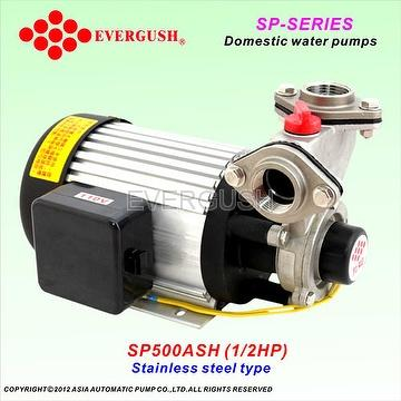 Stainless steel domestic water pumps