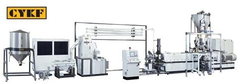 HT Series Co-Rotating Twin Screw Underwater Pelletizing Compounding Extrusion Li...