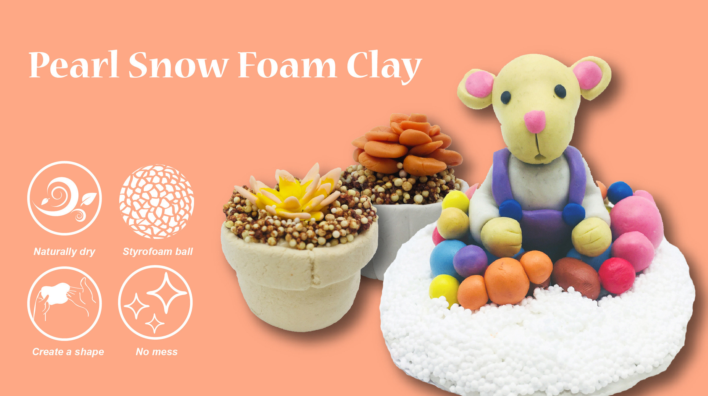 Foam clay slime mixing