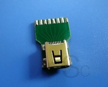 Mini USB 8 Pin Femal connector