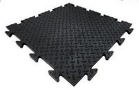 Garage Tile-2-Rubber-Iron Texture-Top Side View