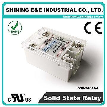 Taiwan SSRS40AAH Single Phase 40Amp AC to AC Solid State Relay
