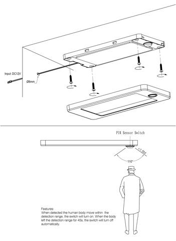 RIP Sensor Switch Cabinet Light range Instructions