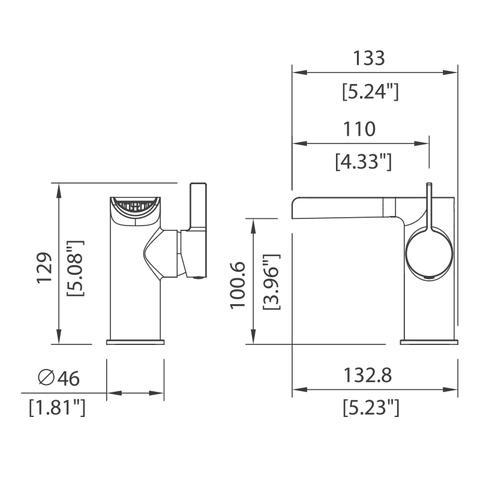 Flume - Single control Lav faucet