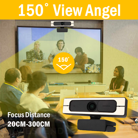 PTZ WebCam Powered by AI , Wide Angle and Long Distance up to 300cm