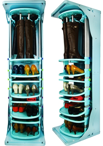 Exceptionnel Free Standing Adjustable Swivel Footwear Shelf, Rotating Boots Rack, Rotating  Shoe Storage