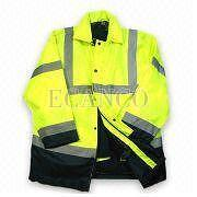 Hi-Viz,High Visibility Protection EN471 Class 3 4 in 1 Interactive Jacket PFHV14-1