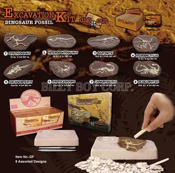 Taiwan [ Dinosaur Fossil ] EXCAVATION KIT / Educational Toy / Dig It