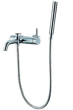 stainless steel bath mixer with handle shower