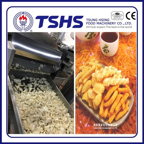 Professional Fried Pellet chips Processing Line with CE approved