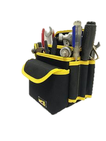 Tool pouch with 3 pockets & one cover