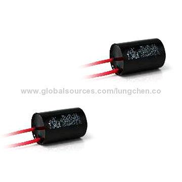 taiwan metallized polyester film capacitor round plastic case metallized polyester film capacitor