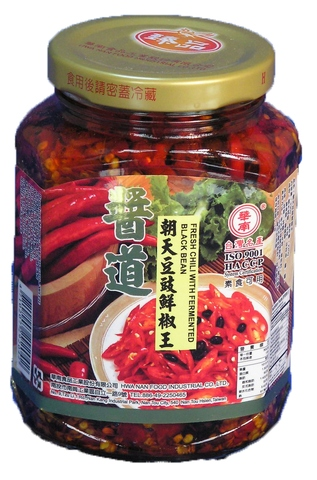 FRESH CHILI WITH FERMENTED BLACK,agricultural foods chili sauce,