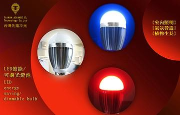 COB LED Dimmable Bulb -Blue / Red