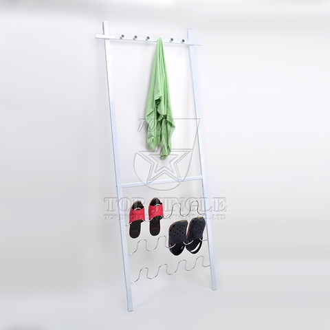 Wall Mounted 6-hook Clothing Stand + Shoe Rack