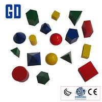 17 shape 3D geo solids set (10cm,4 color)