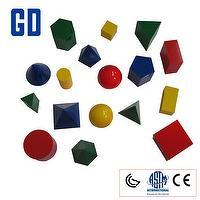 17 shape 3D geo solids set (10cm,4 color)
