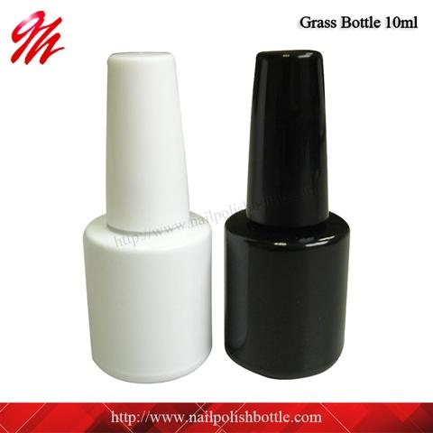 10mlガラス瓶、13/415、光沢のある黒または白の二重コーティング