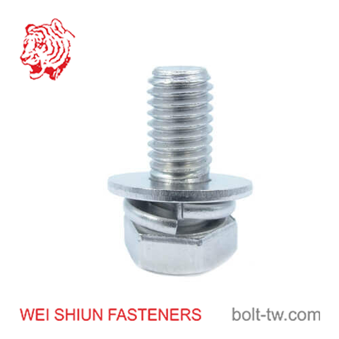 Bolt ISO4017 SS A2 full thread with spring