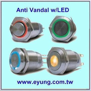 Anti Vandal Waterproof Push Button Switch E Yung