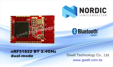 Taiwan Nordic Module nRF51822 BT 2 4GHz | Taiwantrade