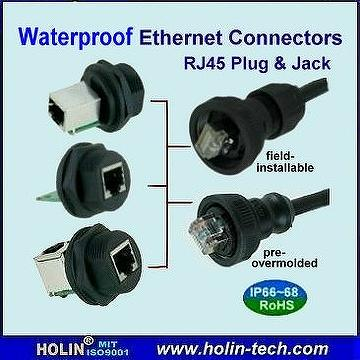 RJ45  Female to Female Adapter Waterproof connector Ethernet