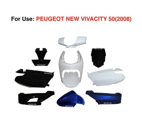 Plastic Fairing Kit For Use PEUGEOT NEW VIVACITY 50 (2008) - DMG
