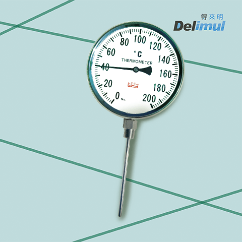Industrial Grade Bimetal Thermometers with Lower Entry