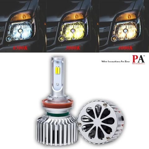 Taiwan Pa 1 Set H11 Car Headlight 60w Switch Tricolor High Power Csp