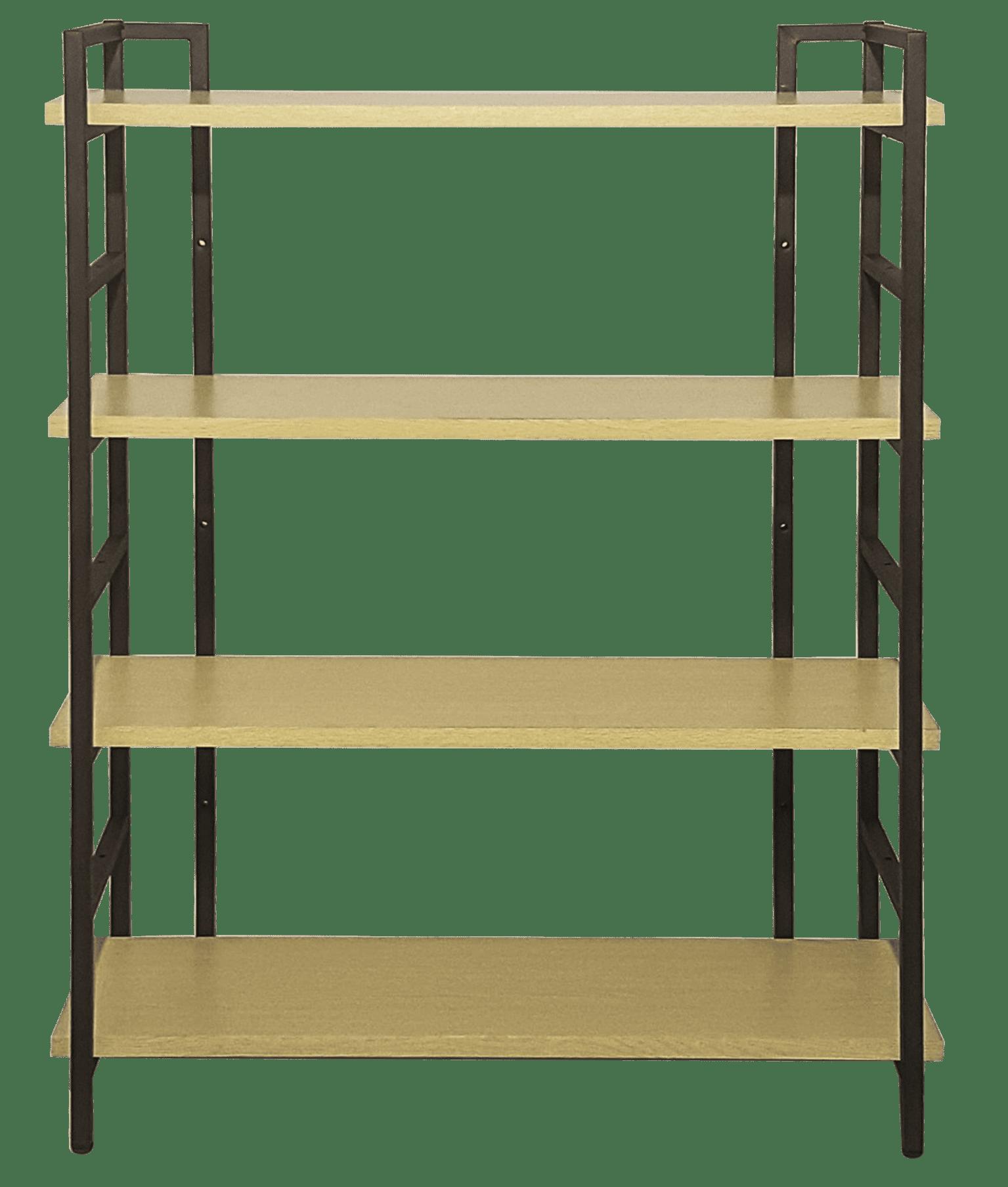 4 Shelf Vintage Nature Industrial Style Bookcase Shin Yi