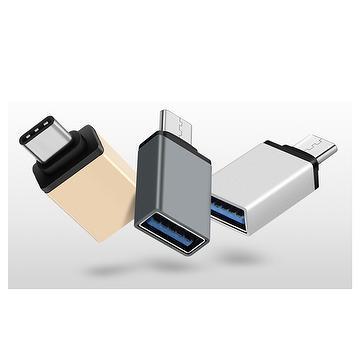 Type-c USB3.0 Type C OTG  aluminum connector adapter