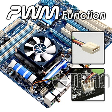 46mm low height design with two 6mm heat pipes CPU Cooler