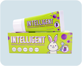 INTELLIGENT Saliva Enzyme fresh strawberry edible dental toothpaste for children