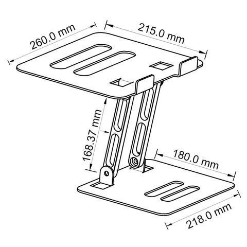 Z-Type Laptop Riser Dimension