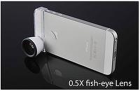 0.5x Fish eye Lens for iphone、htc、samsung (optical-lens)